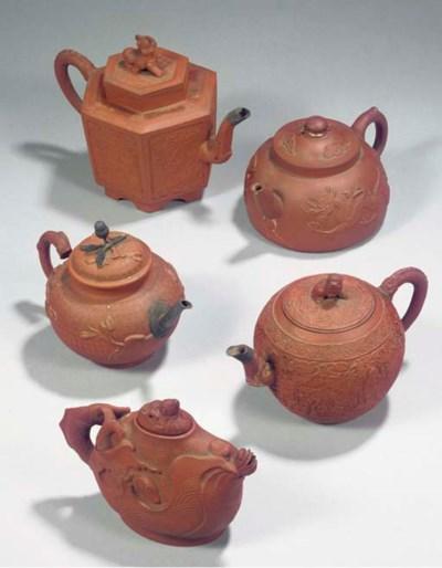 An assorted lot of Yixing teap