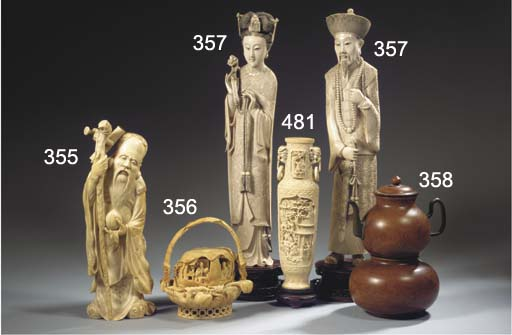 A large ivory carving