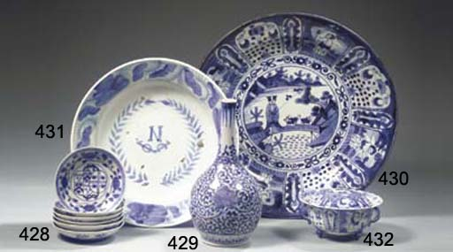 A pair and a set of four Arita