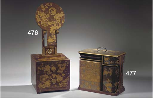 A lacquer dressing-box