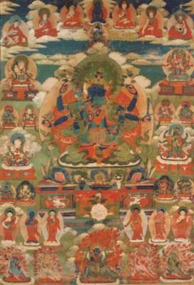 a tibetan thang.ka depicting g