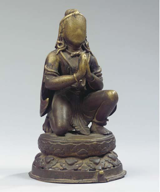 a nepalese copper figure of ga