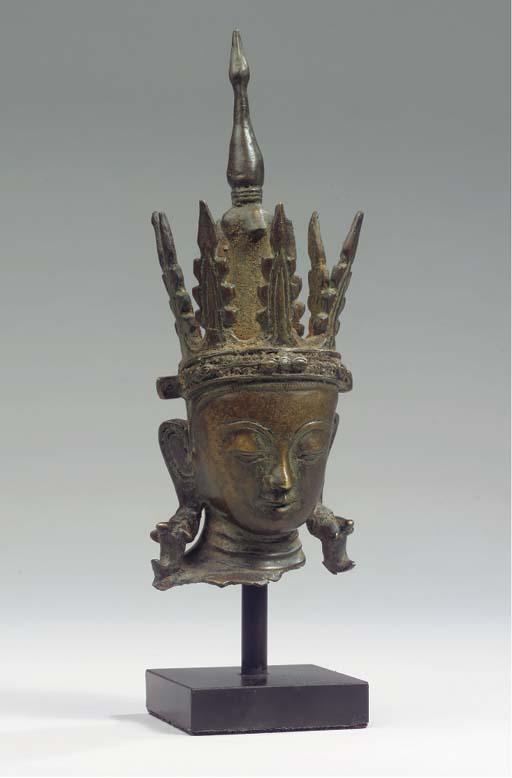 a burmese, shan style, bronze