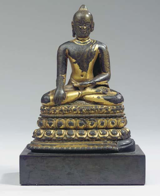 a burmese, pagan style, gilt b