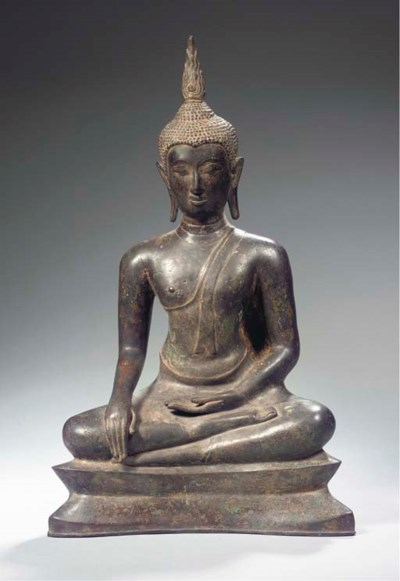 a thai, u-thong style, bronze