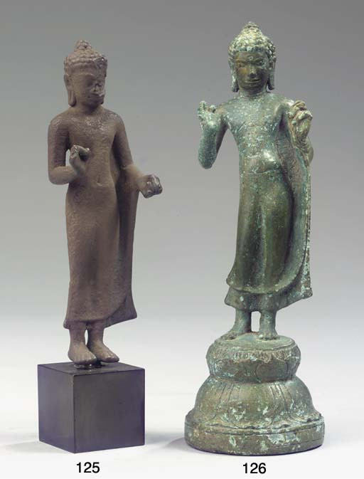 a dvaravati bronze figure of b