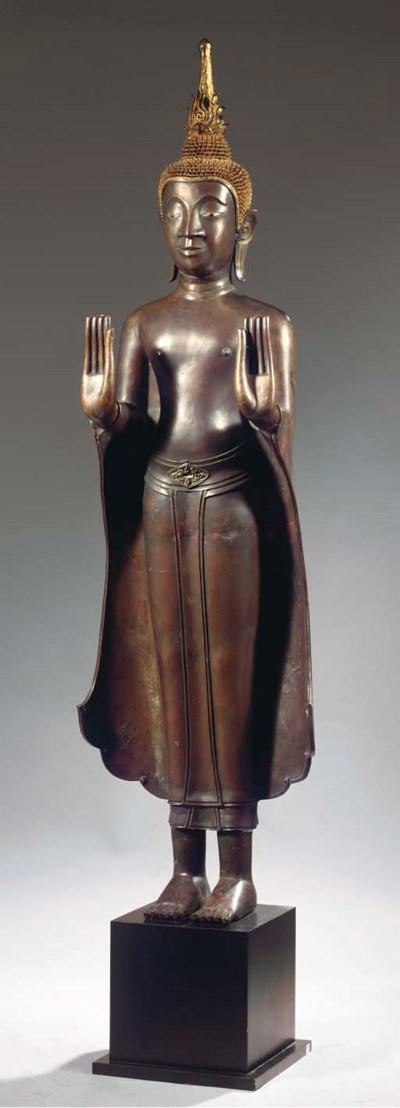 a laos bronze figure of buddha