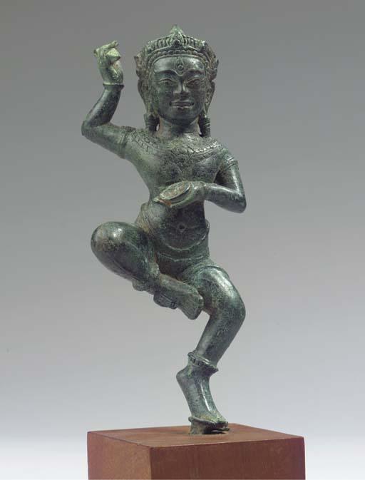 a khmer, bayon style, bronze f