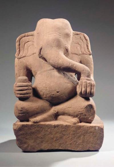 a khmer rose sandstone figure