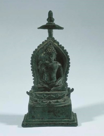 a javanese bronze figure of bu