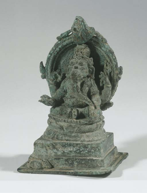 a javanese bronze figure of ga
