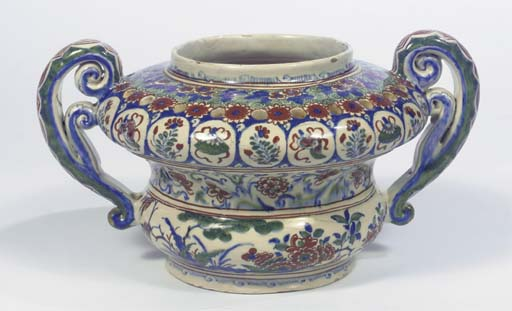 A Dutch Delft polychrome two-h