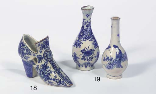 A Dutch Delft blue and white m