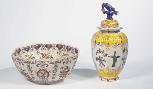 (3)  A Delftware polychrome oc