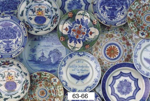 (6)  A set of five Dutch Delft