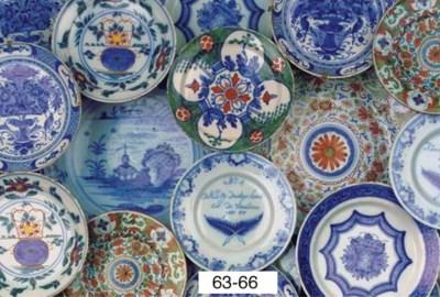 (6)  A set of five Dutch Delft