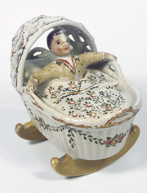 A Dutch Delft model of a baby