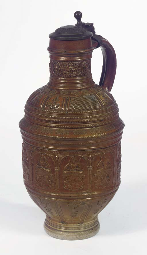 A large Raeren stoneware pewte