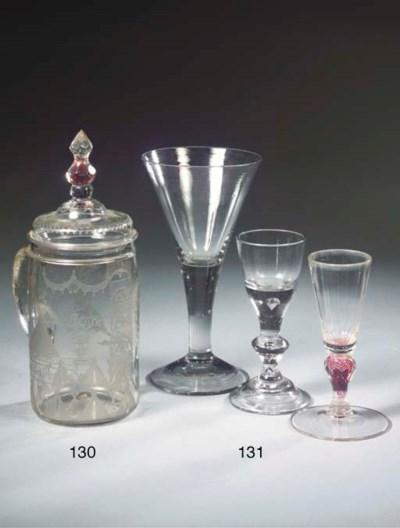 Three various goblets