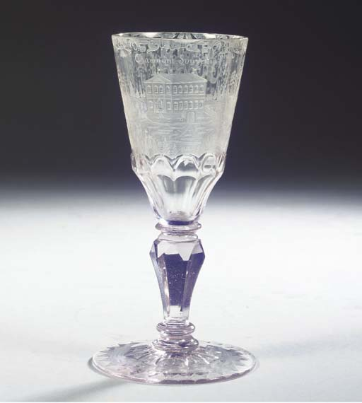 A Silesian engraved faceted co