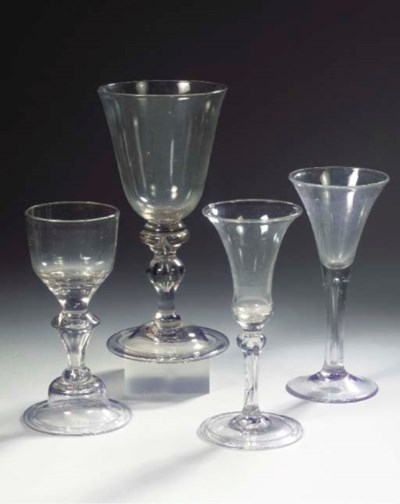 Four various goblets