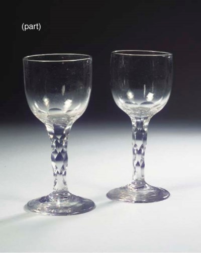 (3)  A pair of English faceted