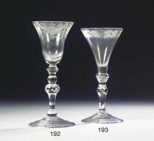 An English engraved goblet