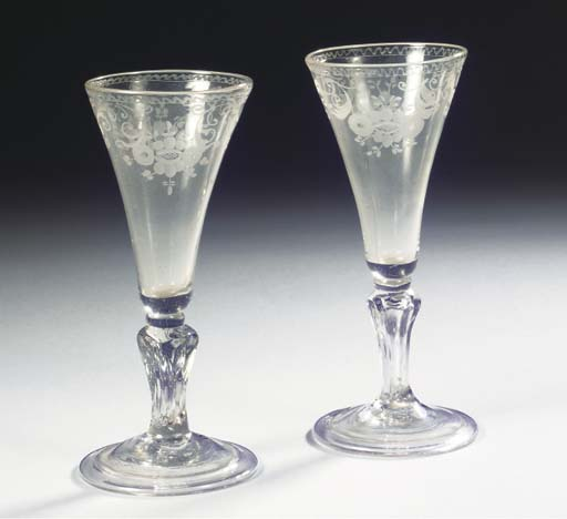 A pair of small Dutch-engraved