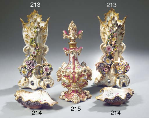 A Jacob Petit porcelain gilt a