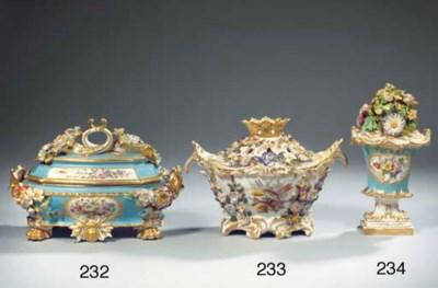 A Jacob Petit porcelain gilt f