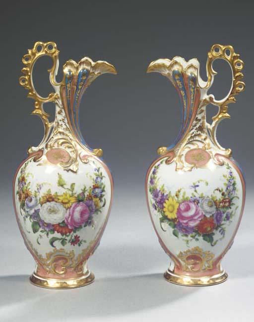 A pair of Jacob Petit-pattern