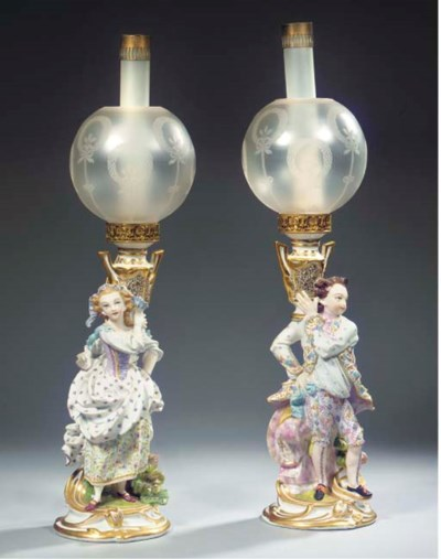 A pair of Brussels porcelain g