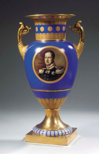 A Berlin KPM porcelain royal t