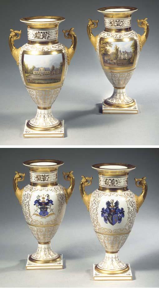 A pair of Berlin KPM porcelain