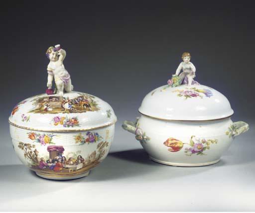 Two Berlin KPM porcelain bulbo