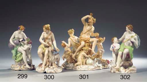 A Berlin KPM porcelain Bacchus