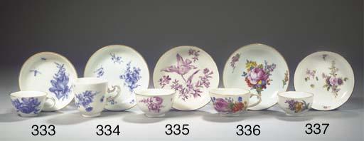 A Meissen porcelain Blaumalere