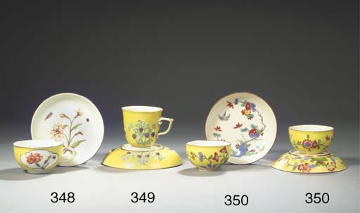A Meissen porcelain yellow-gro