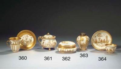 A Böttger porcelain Augsburg H