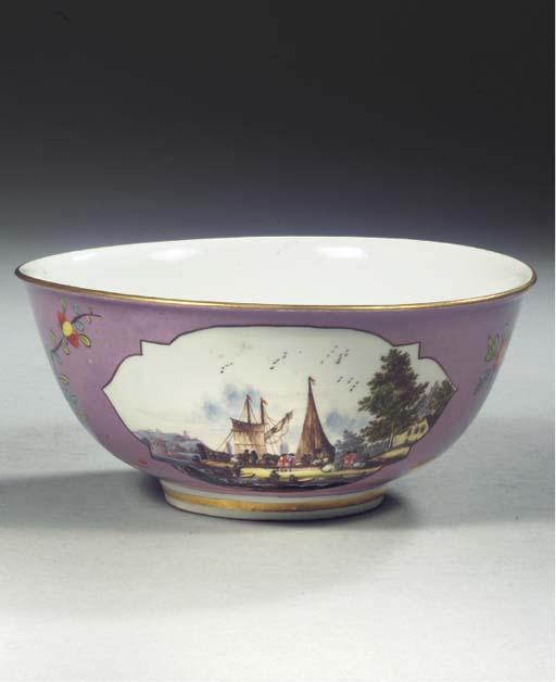 A Meissen porcelain lilac-grou