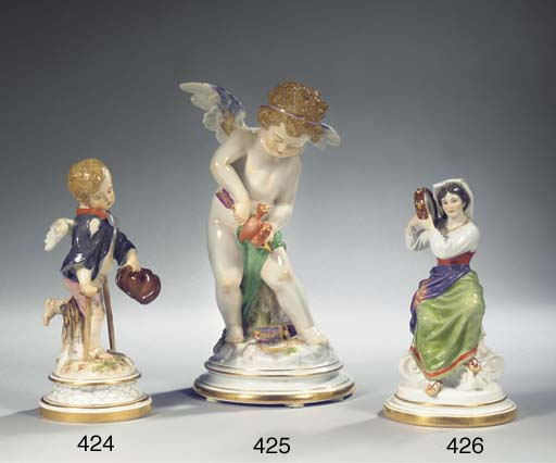 A large Meissen porcelain figu