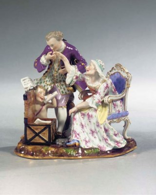 A Meissen porcelain satirical
