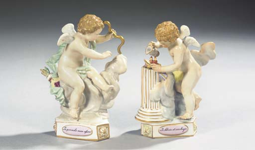Two Meissen porcelain figures