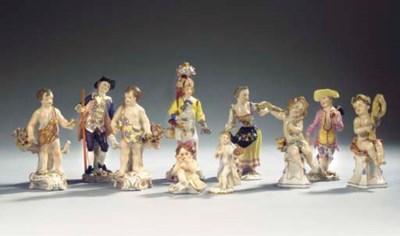 A collection of ten various Sa