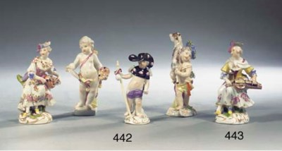A collection of four Meissen p