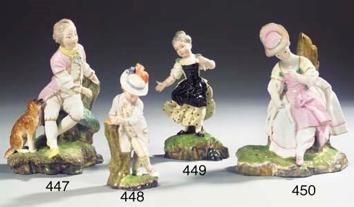A Höchst porcelain group of a