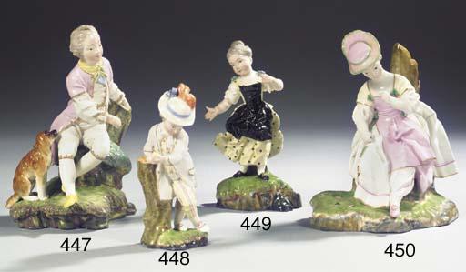 A Höchst porcelain figure of a