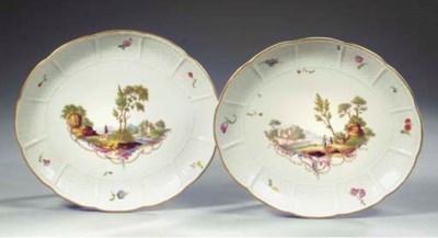 A pair of Ludwigsburg porcelai