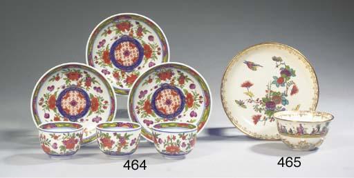 A set of three Meissen porcela