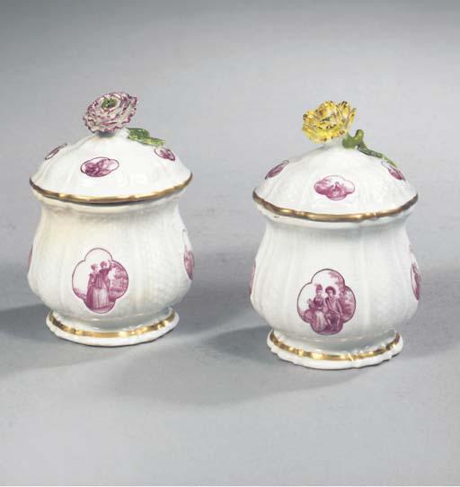 A Meissen porcelain Watteaumal